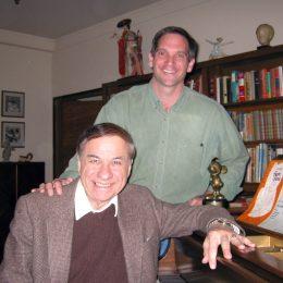 Visiting Walt Disney's office with Disney Legend Dick Sherman.