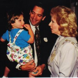 """Mary Costa (the voice of Disney's """"Sleeping Beauty"""") meets my daughter Erin following our interview and seminar."""